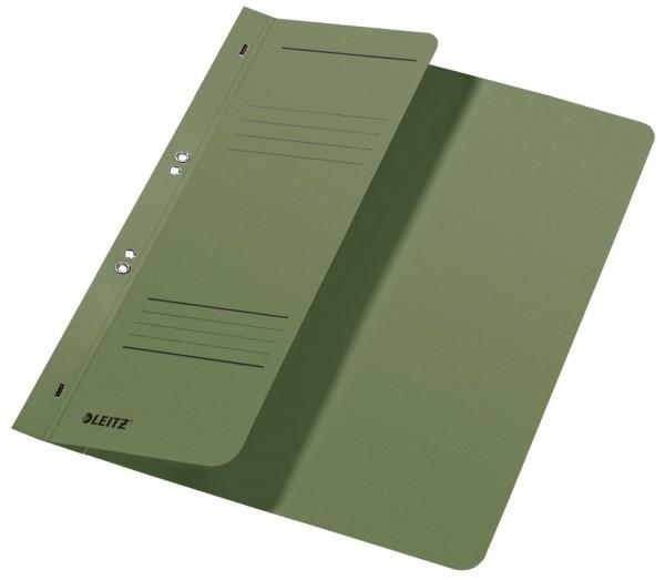 Leitz 3740 Ösenhefter, 1/2 Vorderdeckel, A4, kfm. Heftung, Manilakarton, grün