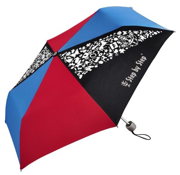"Step by Step Regenschirm ""Pink & Blue"", Magic Rain EFFECT"