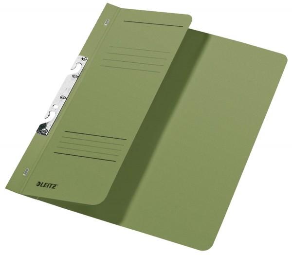 Leitz 3744 Schlitzhefter, 1/2-Vorderdeckel, A4, kfm. Heftung, Manilakarton 250 g/qm, grün