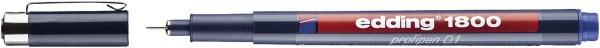 Edding 1800 Faserzeichner profipen - 0,25 mm, blau
