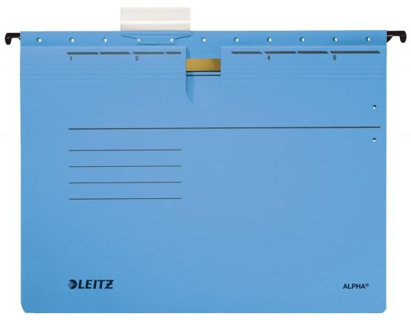 Leitz 1984 Hängehefter ALPHA® - kfm. Heftung, Colorspankarton, blau