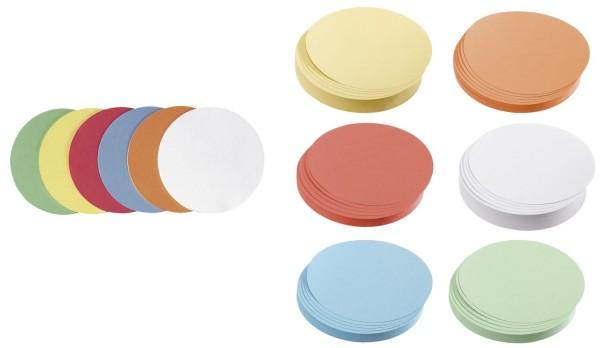 Franken Moderationskarte Kreis klein, 95 mm, sortiert, 500 Stück