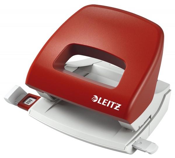 Leitz 5038 Bürolocher Klein NeXXt, 16 Blatt, rot