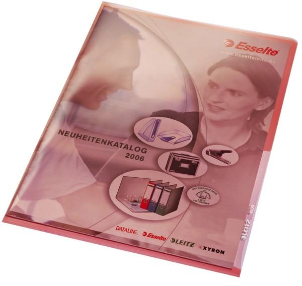 Leitz 4100 Sichthülle Premium, A4, PVC, dokumentenecht, rot