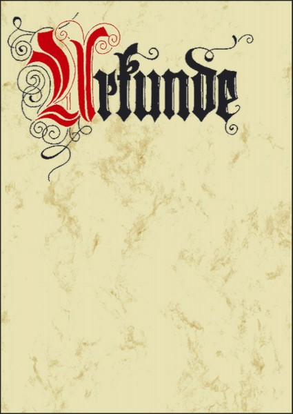 SIGEL Motiv-Papier, Urkunde Calligraphie, A4, 185 g/qm, 12 Blatt