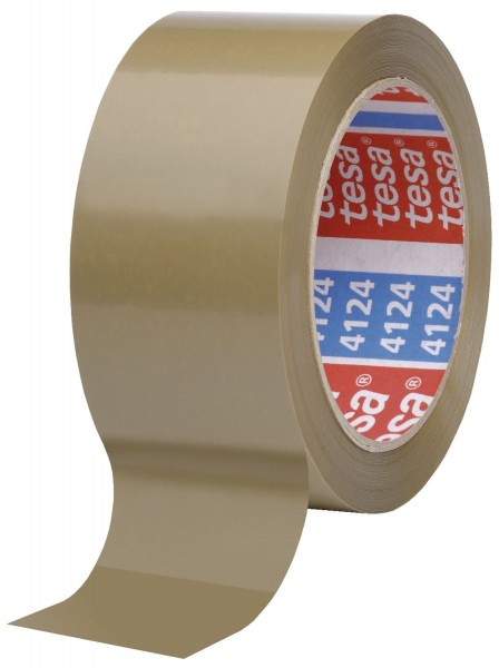 Tesa® Packband tesapack 4124 - 25 mm x 66 m, braun, PVC