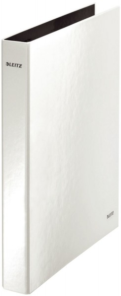 Leitz 4241 Ringbuch WOW, A4 maxi, PP, 2 Ringe Ø25 mm, perlweiß