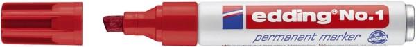 Edding No.1 Permanentmarker - nachfüllbar, 1 - 5 mm, rot