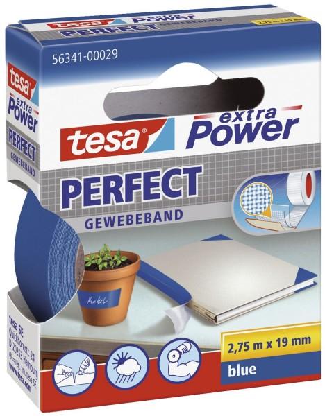 tesa® Gewebeklebeband extra Power Gewebeband, 2,75 m x 19 mm, blau