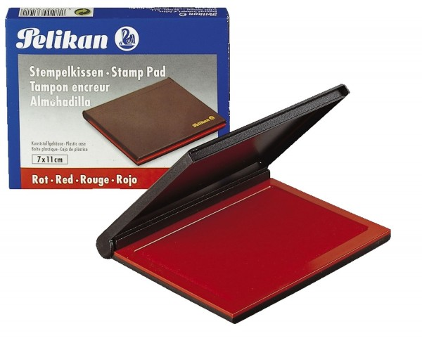 Pelikan® Stempelkissen 3E Kunststoff-Gehäuse, getränkt, 70 x 50 mm, rot