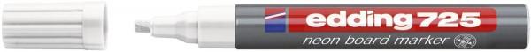 Edding 725 Neon-Boardmarker - nachfüllbar, 2 - 5 mm, weiß