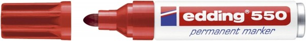 Edding 550 Permanentmarker - nachfüllbar, 3 - 4 mm, rot