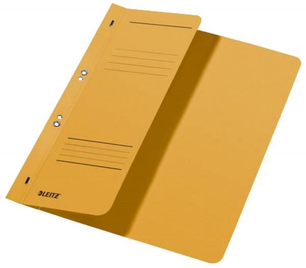 Leitz 3740 Ösenhefter, 1/2 Vorderdeckel, A4, kfm. Heftung, Manilakarton, gelb