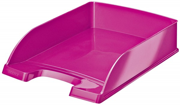 Leitz 5226 Briefkorb Plus WOW - A4, Polystyrol, pink metallic