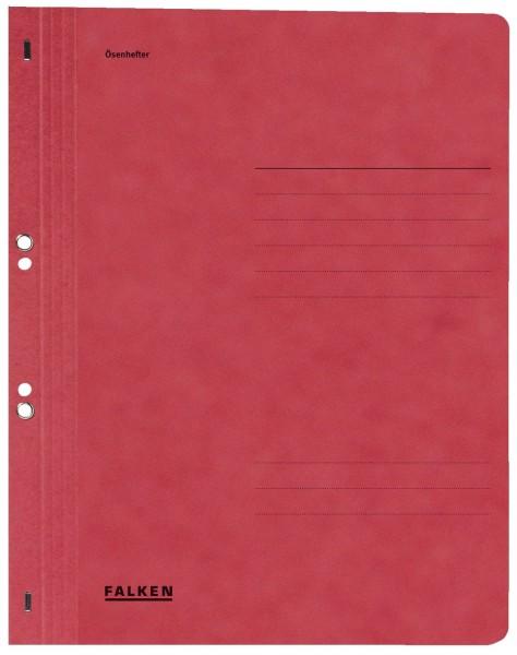 Falken Ösenhefter A4 1/1 Vorderdeckel, rot, Manilakarton, 250 g/qm