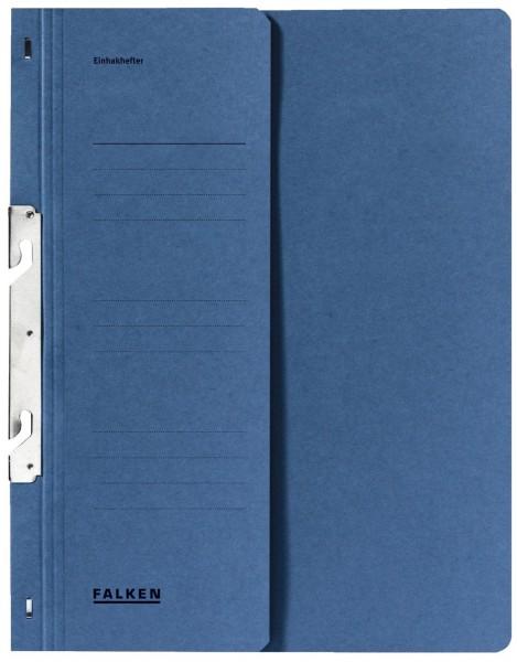 Falken Einhakhefter A4 1/2 Vorderdeckel kfm. Helfung, blau, Manilakarton, 250 g/qm