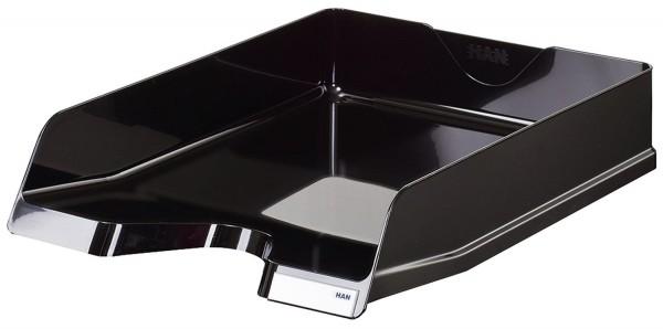 HAN Briefablage VIVA - DIN A4/C4,hochglänzend, stapelbar, schwarz