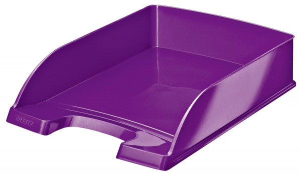 Leitz 5226 Briefkorb Plus WOW - A4, Polystyrol, violett