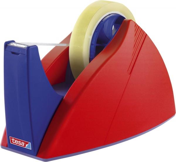 tesa® Tischabroller für Klebefilm tesa Easy Cut®, 66 m x 25 mm, rot-blau Abroller