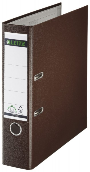 Leitz 1010 Ordner Plastik - A4, 80 mm, braun