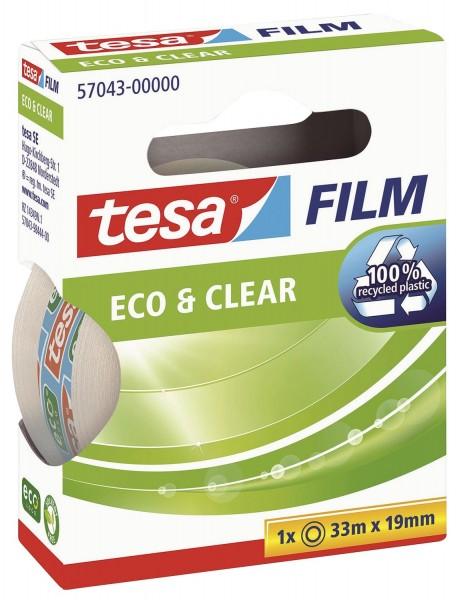 tesa® Eco & Clear - unsichtbar, Bandgröße (L x B): 33 m x 19 mm
