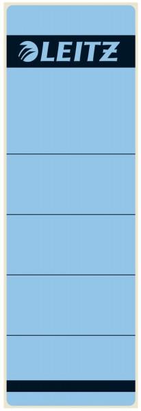 Leitz 1642 Rückenschilder - Papier, kurz/breit, 10 Stück, blau