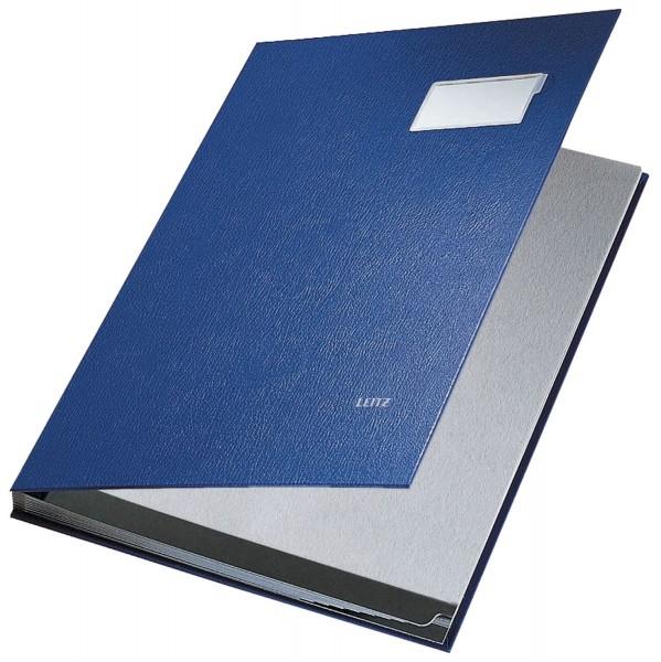 Leitz 5701 Unterschriftsmappe - 10 Fächer, PP kaschiert, blau