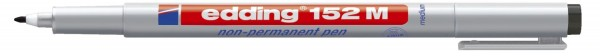 Edding 152 M - OHP-Marker, non-permanent, 1,0 mm, schwarz