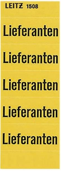 Leitz 1508 Inhaltsschild Lieferanten, selbstklebend, 100 Stück, gelb