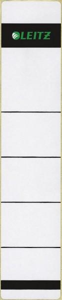 Leitz 1643 Rückenschilder - Papier, kurz/schmal, 10 Stück, hellgrau