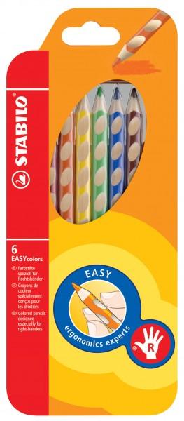 Stabilo® Ergonomischer Buntstift EASYcolors - Klappetui mit 12 Stiften, mit Spitzer