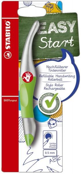 Stabilo® EASYoriginal - ergonomischer Tintenroller, neongrün/metallic