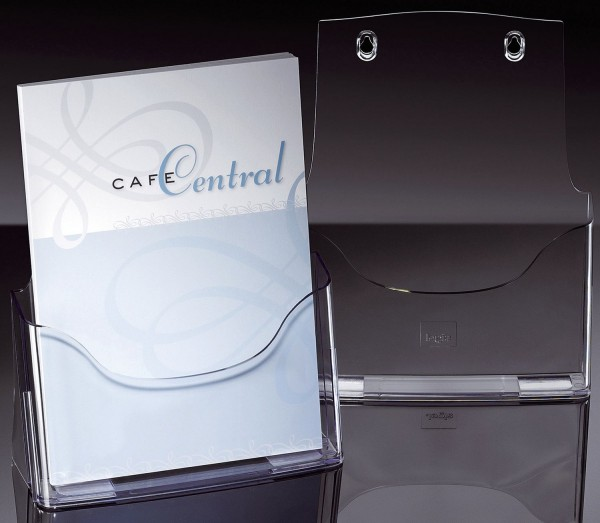 SIGEL Tisch-Prospekthalter acrylic, mit 1 Fach, glasklar, für A4