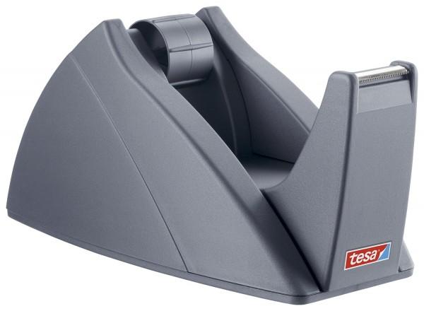 tesa® Tischabroller für Klebefilm tesa Easy Cut®, 33 m x 19 mm, silbergrau Abroller