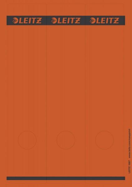 Leitz 1687 PC-beschriftbare Rückenschilder - Papier, lang/breit, 75 Stück, rot