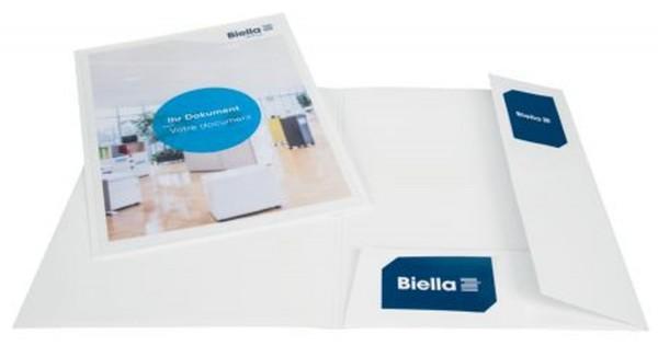 Biella Präsentationsmappe Pearl1 weiß A4 mit Tasche