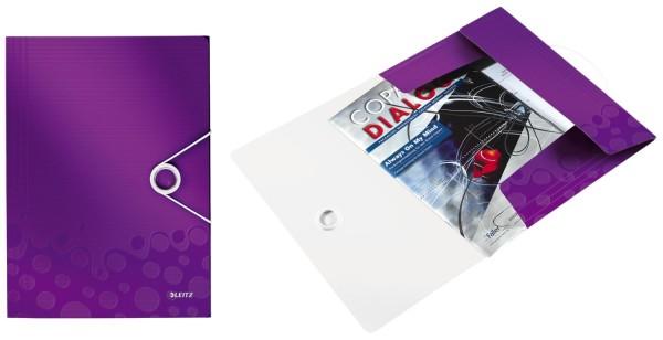 Leitz 4599 Eckspannermappe WOW - A4, PP, violett