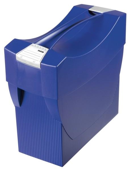 HAN Hängemappenbox SWING-PLUS mit Deckel, für 20 Hängemappen, blau