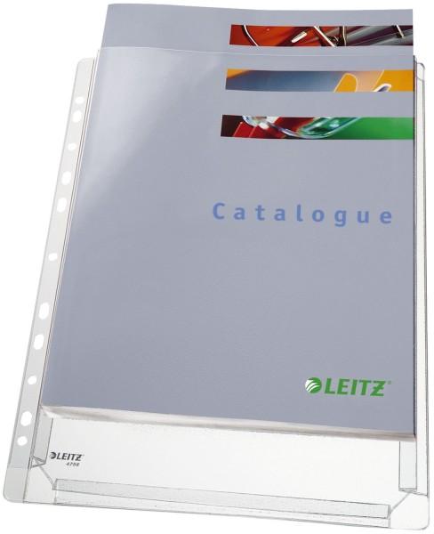 Leitz 4756 Prospekthülle Maxi Standard - oben offen, genarbt, 0,17 mm, A4, 5 Stück
