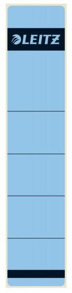 Leitz 1643 Rückenschilder - Papier, kurz/schmal, 10 Stück, blau