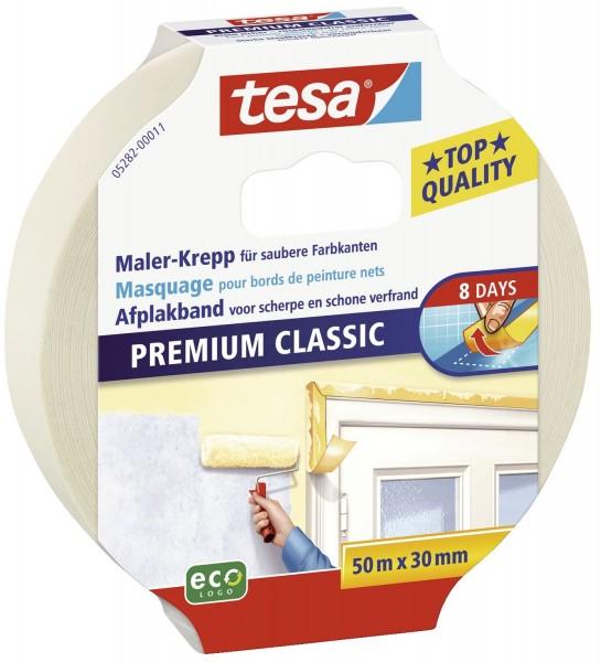 tesa® Papier-Klebeband Maler-Krepp Classic, 50 m x 30 mm, beige