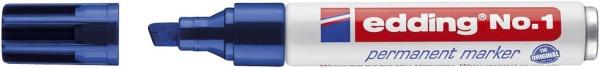 Edding No.1 Permanentmarker - nachfüllbar, 1 - 5 mm, blau
