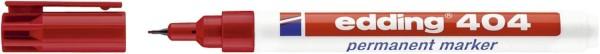 Edding 404 Permanentmarker - nachfüllbar, 0,75 mm, rot