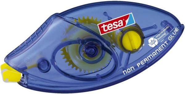 tesa® Roller Kleben Non Permanent Einwegroller,Bandgröße L x B):8,5mx8,4mm, blau