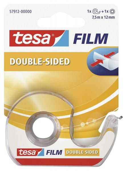 tesa® tesafilm® doppelseitig klebend, beidseitig Bandgröße (L x B): 7,5 m x 12 mm