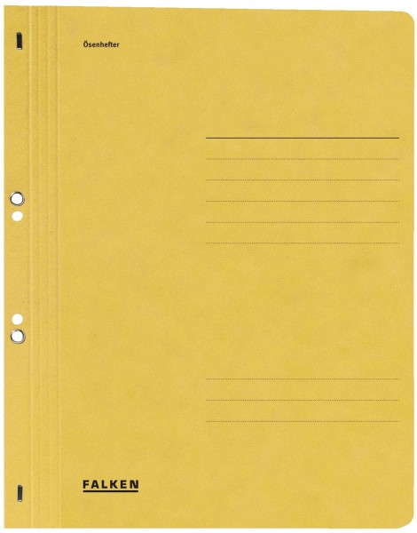 Falken Ösenhefter A4 1/1 Vorderdeckel, gelb, Manilakarton, 250 g/qm