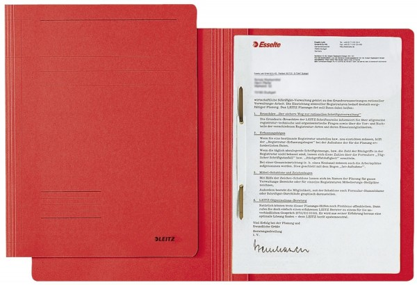 Leitz 3003 Schnellhefter Fresh - A4, Pendarec-Karton (RC), rot