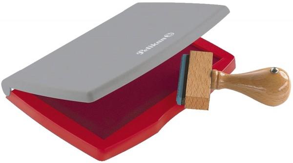 Pelikan® Stempelkissen 2E Kunststoff-Gehäuse, getränkt, 110 x 70 mm, rot