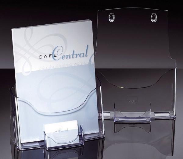 SIGEL Tisch-Prospekthalter acrylic, glasklar, für A4