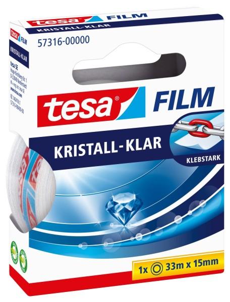tesa® Klebefilm kristall-klar - Bandgröße (L x B): 33 m x 15 mm